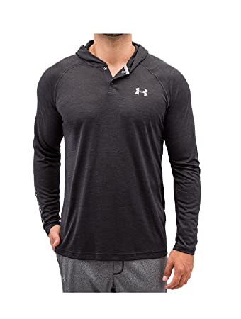 Under Armour Men's UA Tech Popover Henley Hoodie - Black, X-Small