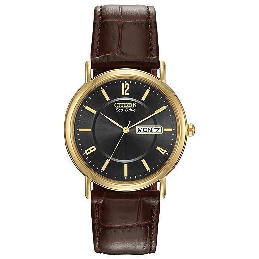 Citizen BM8242-08E - Reloj de Pulsera Hombre, Piel, Color Marrón: Citizen: Amazon.es: Relojes