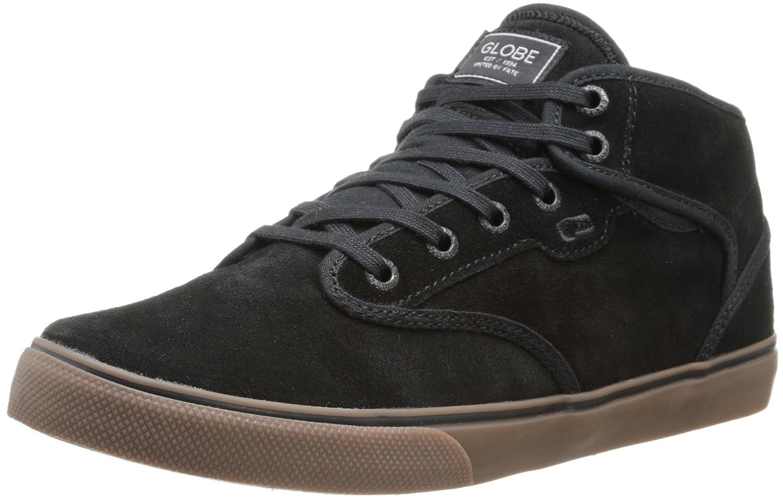 Globe Men's Motley Mid Skate Shoe 6 D(M) US|Black/Tobacco Gum