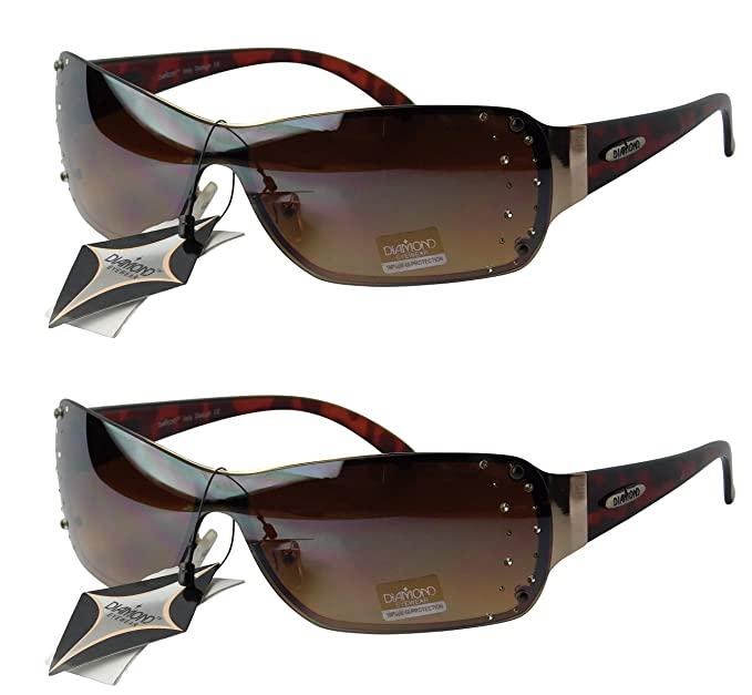 Amazon.com: d08-cc anteojos de diamantes Escudo anteojos de ...