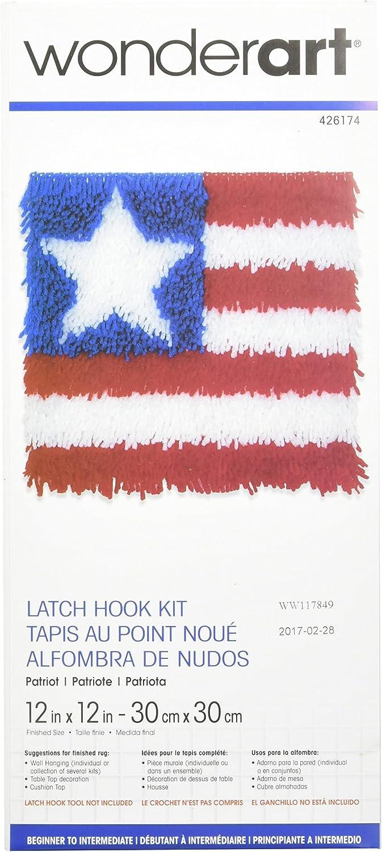 Angel Fish 12 by 12-Inch Spinrite Wonderart Latch Hook Kit