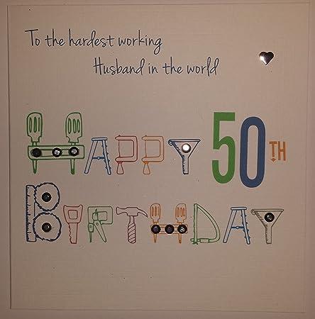 Happy Birthday Card Husband 50th