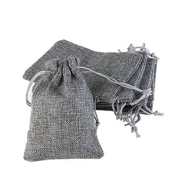 ROSENICE Bolsa de Organza Bolsitas de tela de saco bolsas de sacos 10pcs (grises)