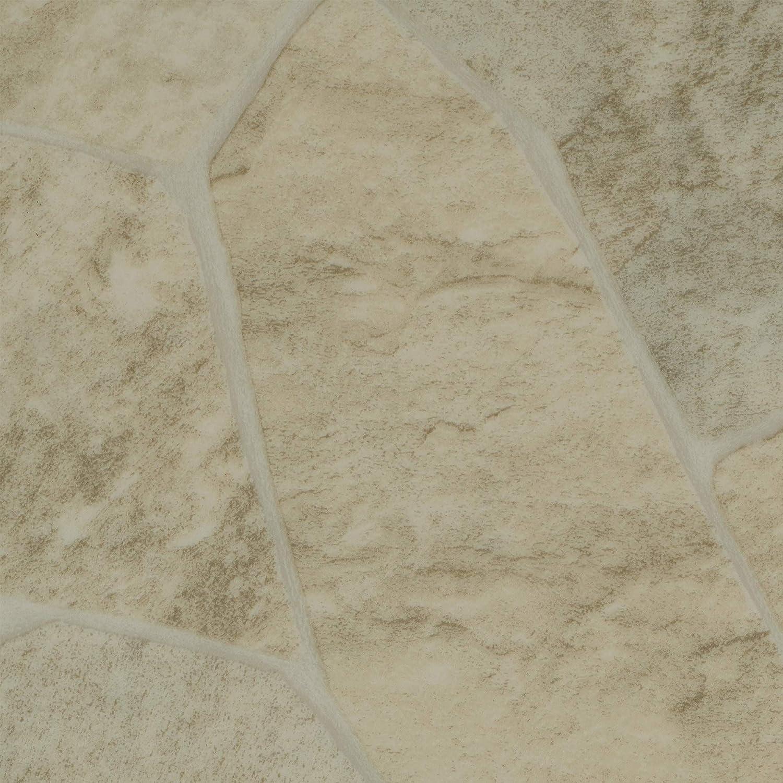 Fliesenoptik Steinoptik hell creme wei/ß BODENMEISTER BM70522 Vinylboden PVC Bodenbelag Meterware 200 300 400 cm breit