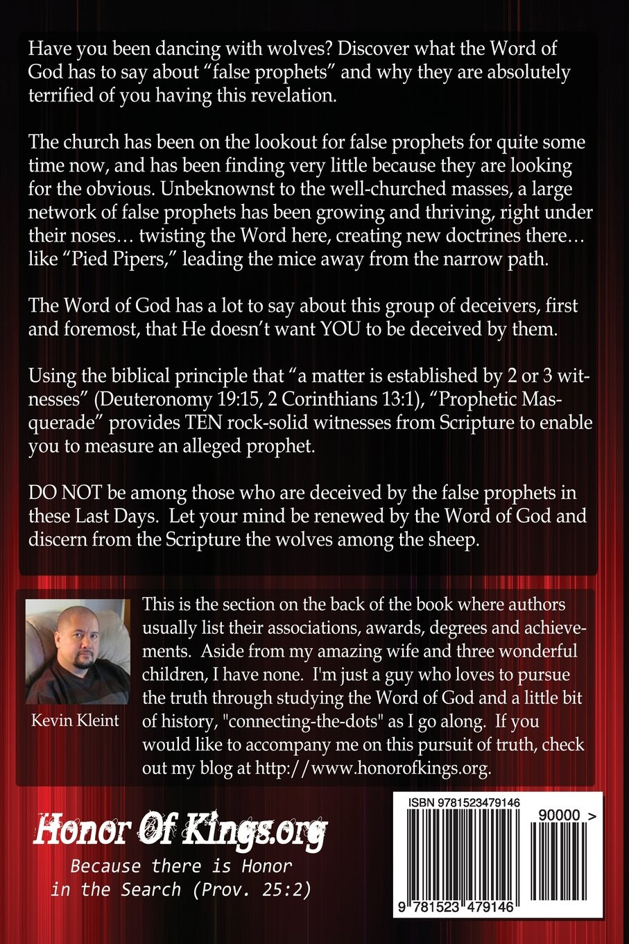 Prophetic Masquerade: Learn To Use The Word Of God To Unmask The Wolves  Among The Sheep: Kevin R Kleint: 9781523479146: Amazon: Books