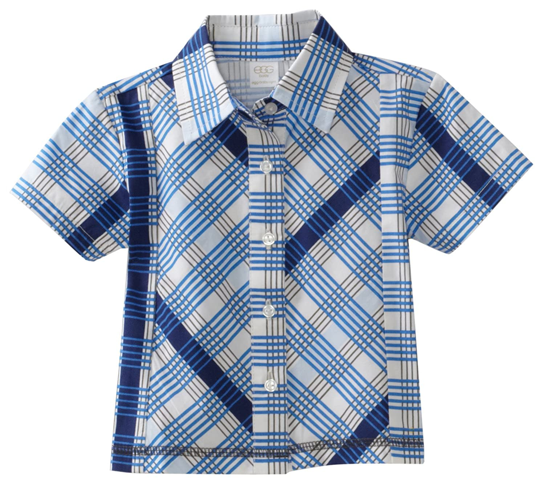 egg by suzan lazar Baby Boys' Button Down Shirt Egg Baby by Susan Lazar P2CO151