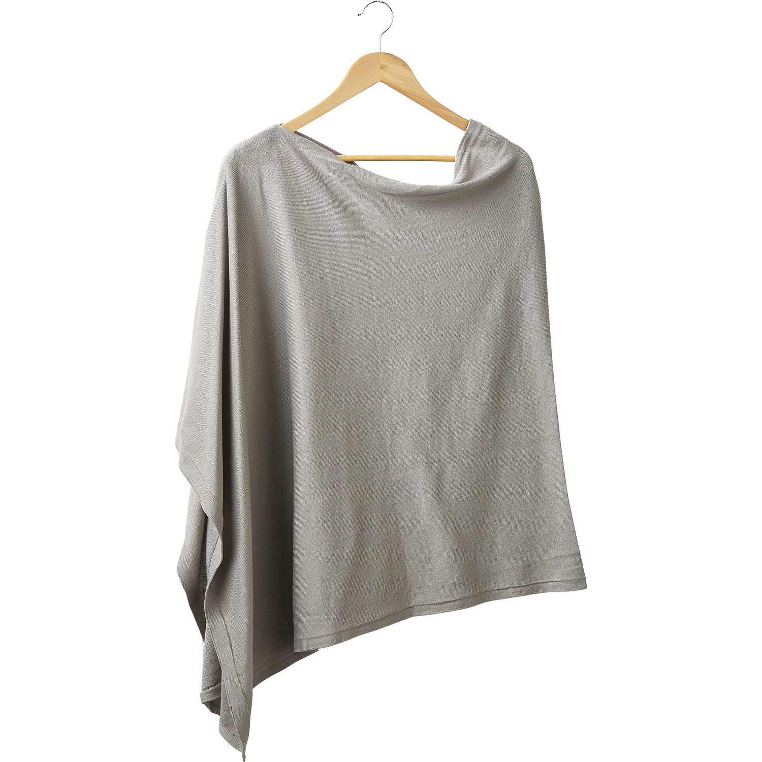 Tickled Pink Womens Everyday Basics Elegant Classic Solid Cotton Poncho