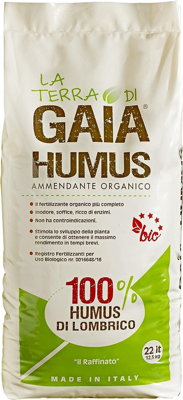 La Terra de Gaia 100% Humus de Lombriz Il Raffinato - Saco de 22 l ...