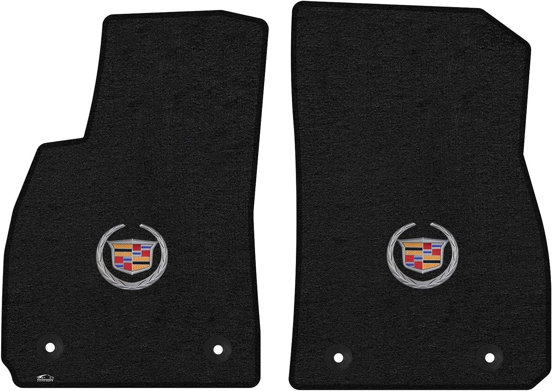 Lloyd Mats LogoMat Custom Floor Mats for Cadillac XTS 2013-2016 Charcoal, 4 PC - Fronts /& Rears