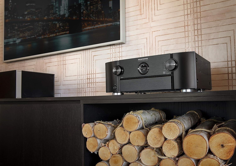Marantz SR6014 AV Receiver Bundle White HEOS 5 Wireless Speaker