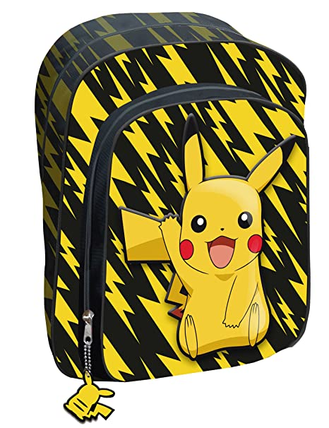 Mochila Adaptable Carro Pokemon Pikachu 2 Cremalleras 42 CM