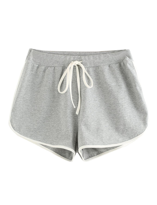 Grey 1 Small SweatyRocks Women's Dolphin Running Workout Shorts Yoga Sport Fitness Short Pant