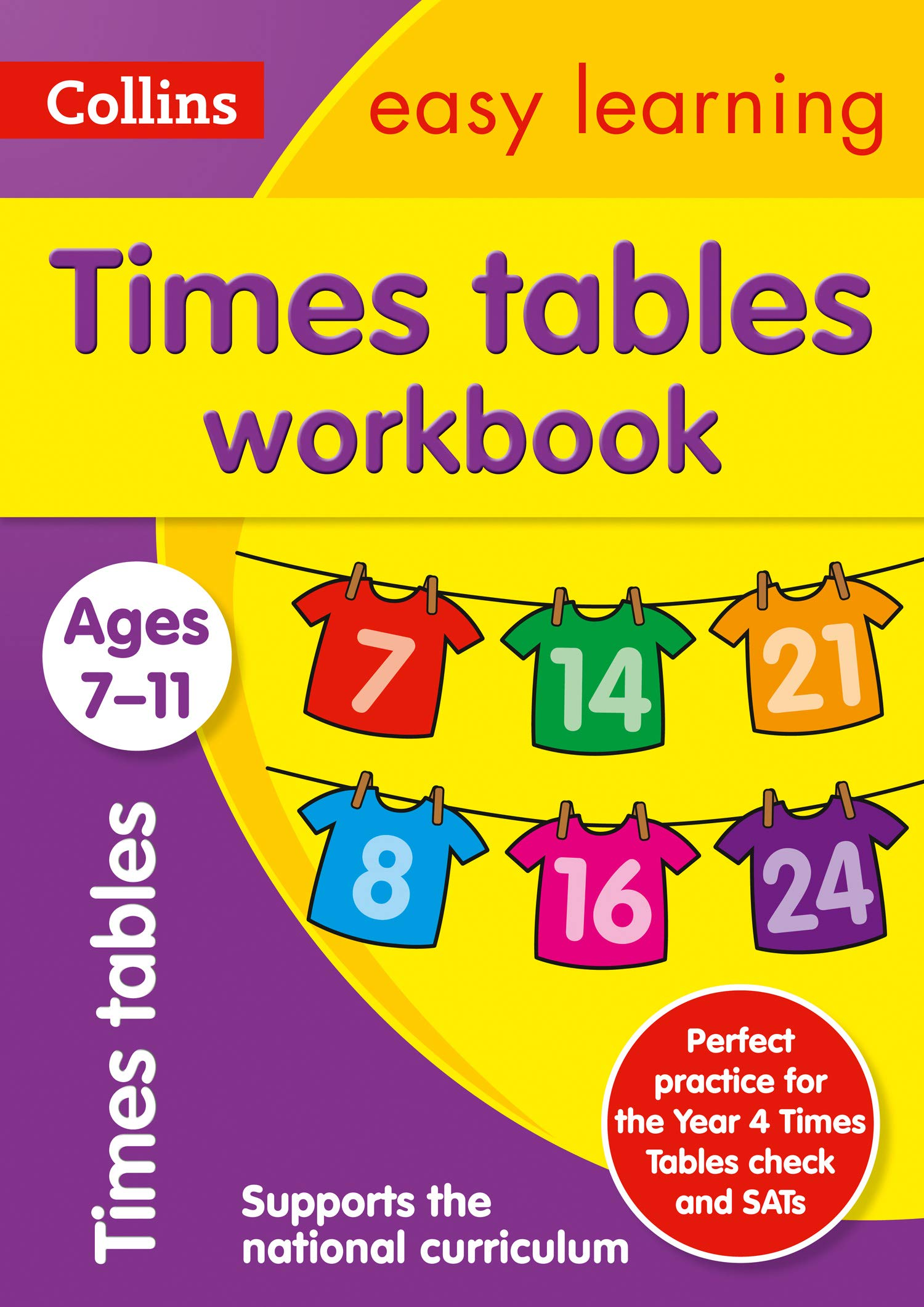 Times Tables Workbook Ages 7 11  New Edition  Collins Easy Learning