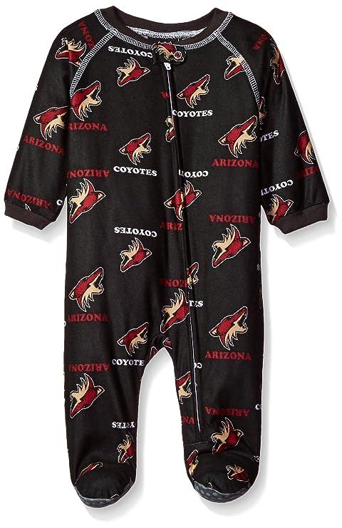 c6ef6ea71 Outerstuff NHL Arizona Coyotes Newborn Boys Sleepwear All Over Print Zip Up  Coveralls