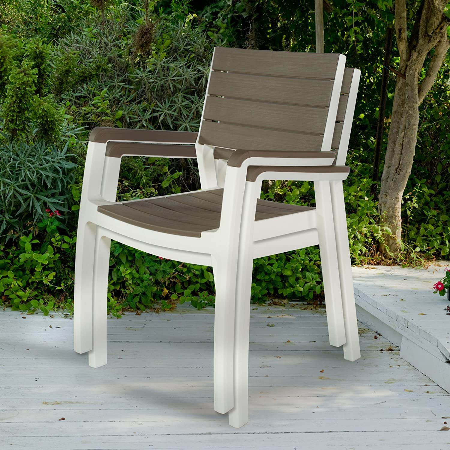 Amazon.com : Keter Harmony Indoor/Outdoor Stackable Patio Furniture ...