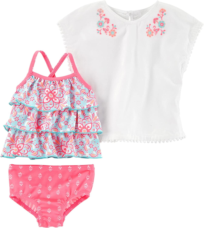 Carters Baby Girls Two Piece Tankini Swimsuit Set