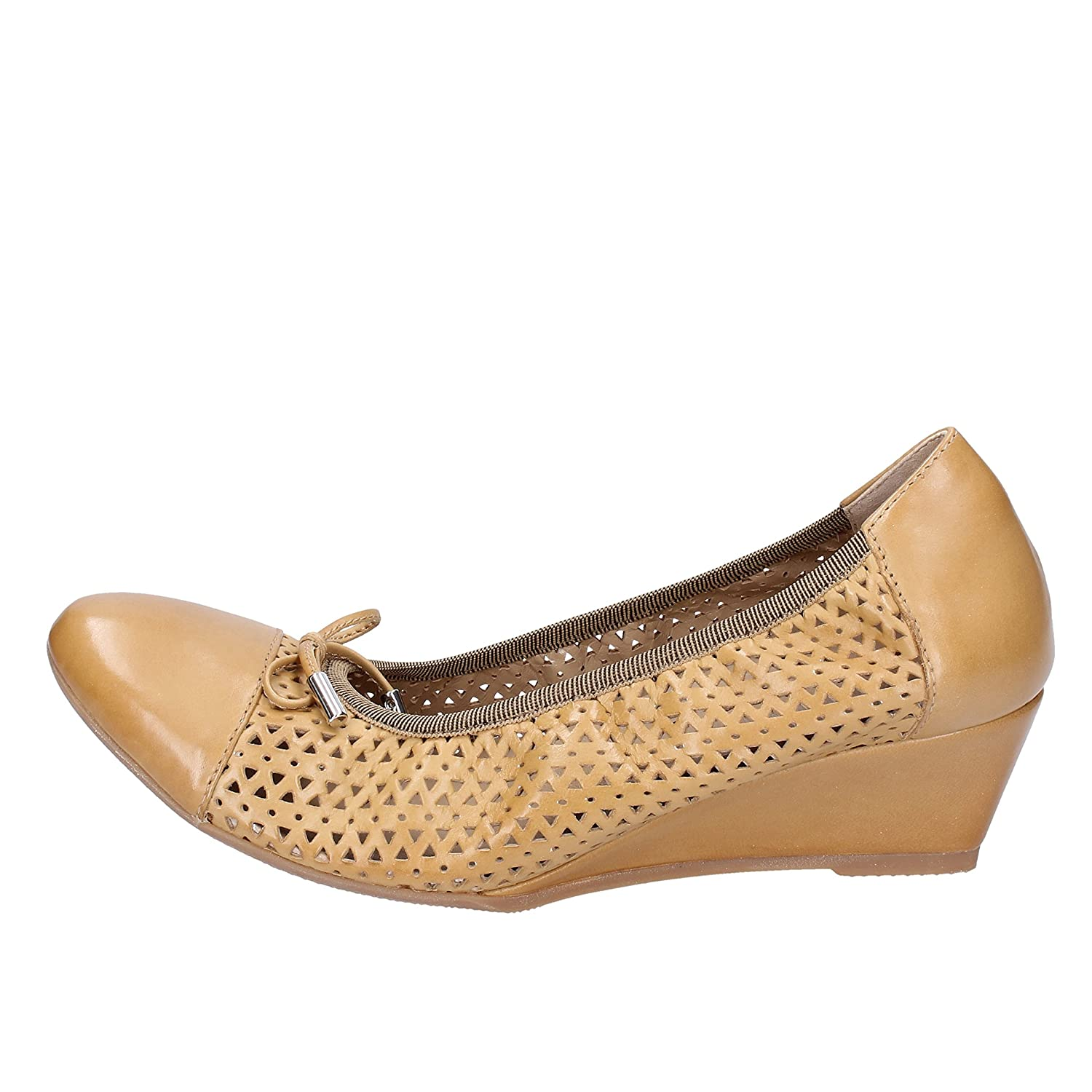 - CALPIERRE Flats-shoes Womens Leather Brown