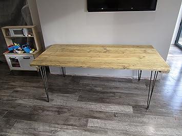 Tavoli Da Pranzo In Legno Riciclato : Tavolo da pranzo industriale forcina con gambe in legno riciclato