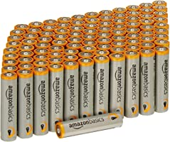 AmazonBasics, Pilas alcalinas AAA de alto rendimiento, paquete por 100unidades
