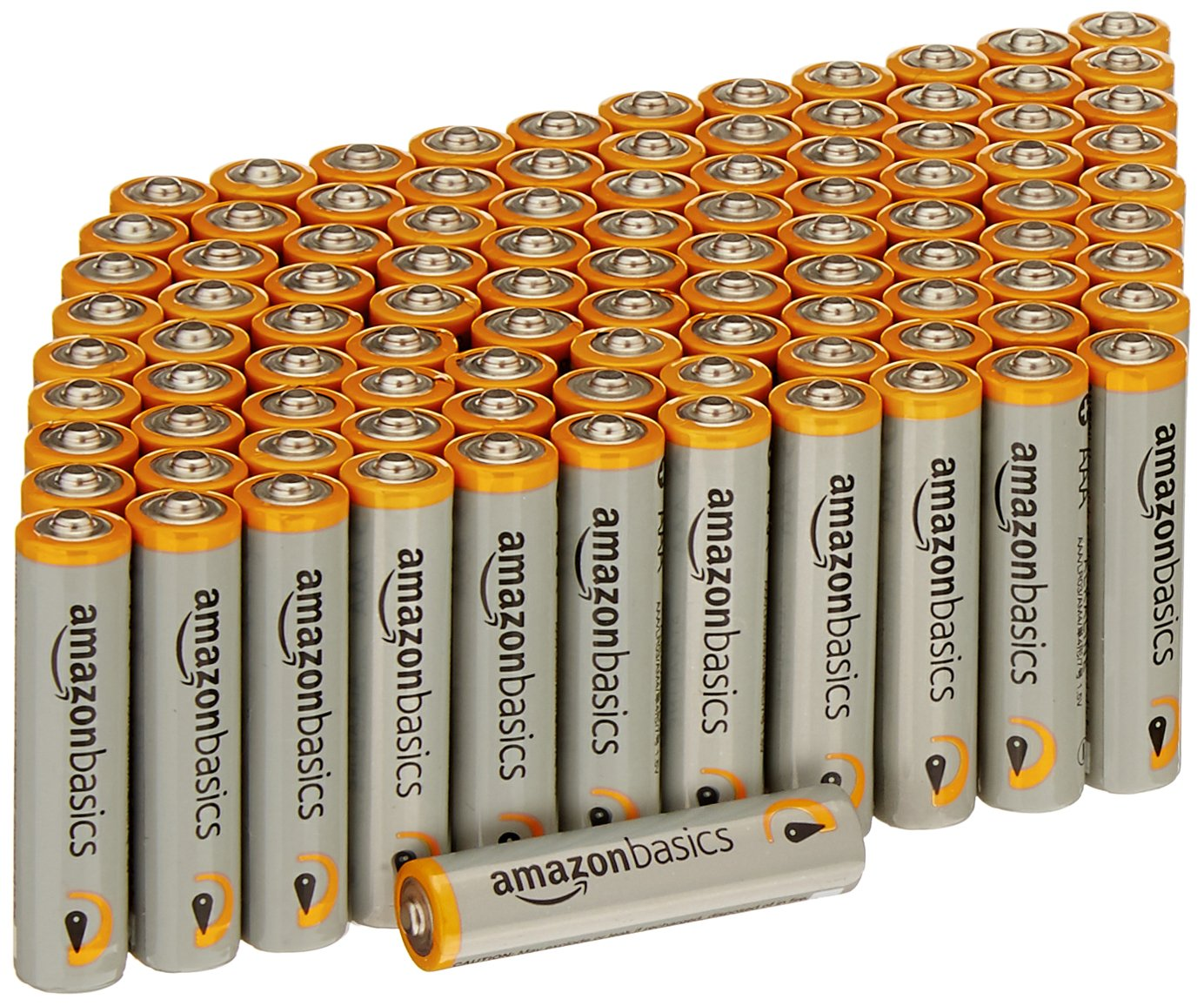 AmazonBasics AAA 1.5 Volt Performance Alkaline Batteries - Pack of 100