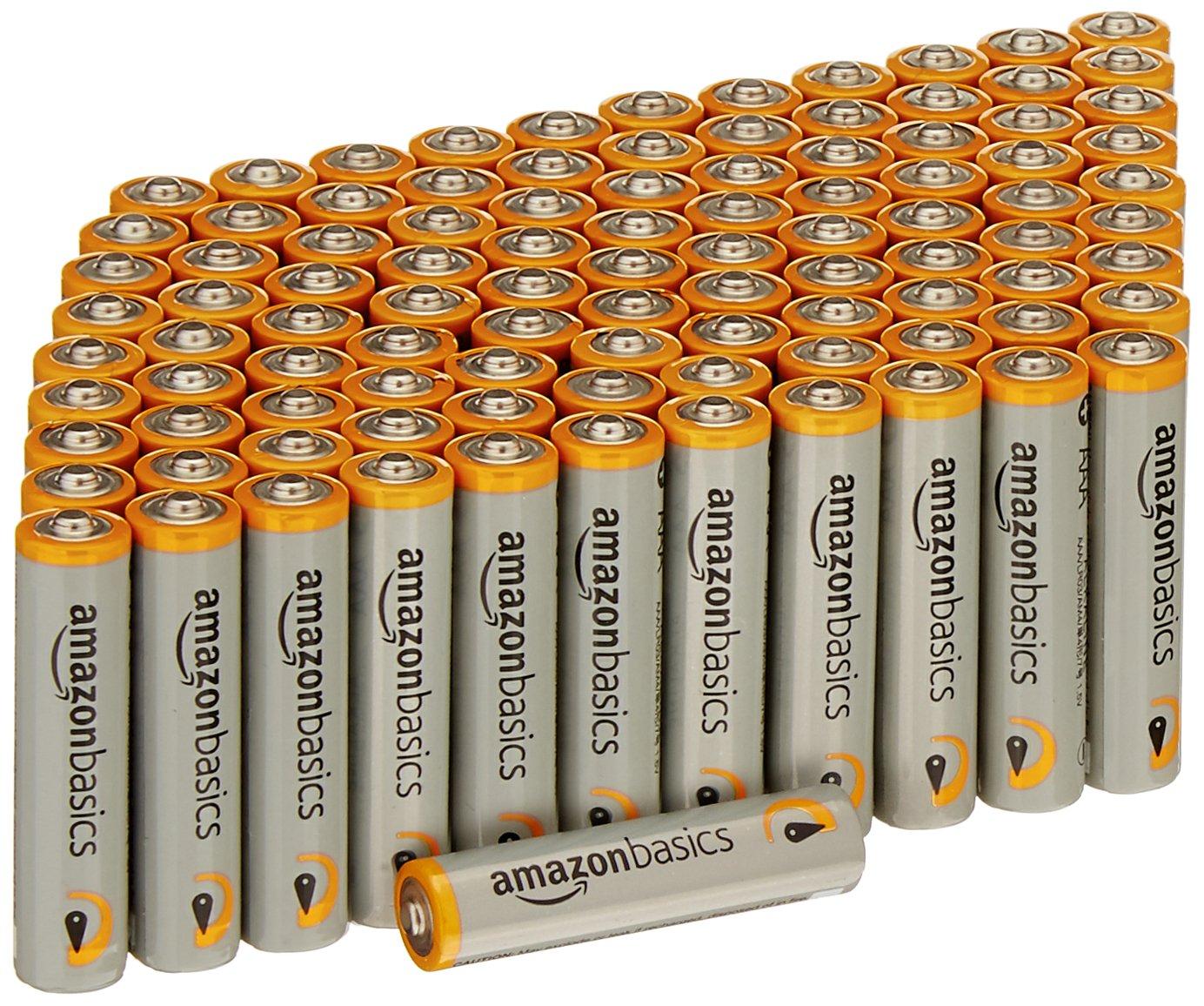 AmazonBasics AAA 1.5 Volt Performance Alkaline Batteries - Pack of 100 by AmazonBasics