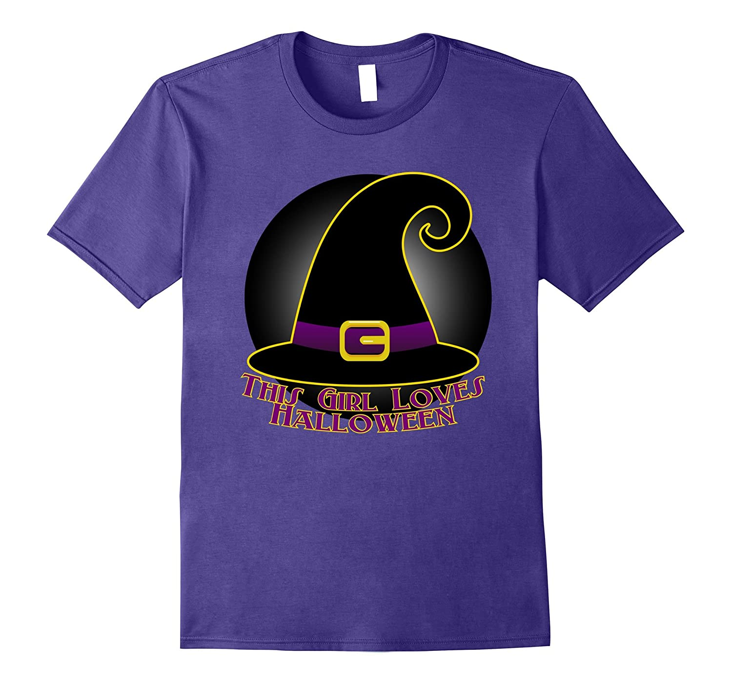 This Girl Loves Halloween Shirt Halloween Apparel Women-FL