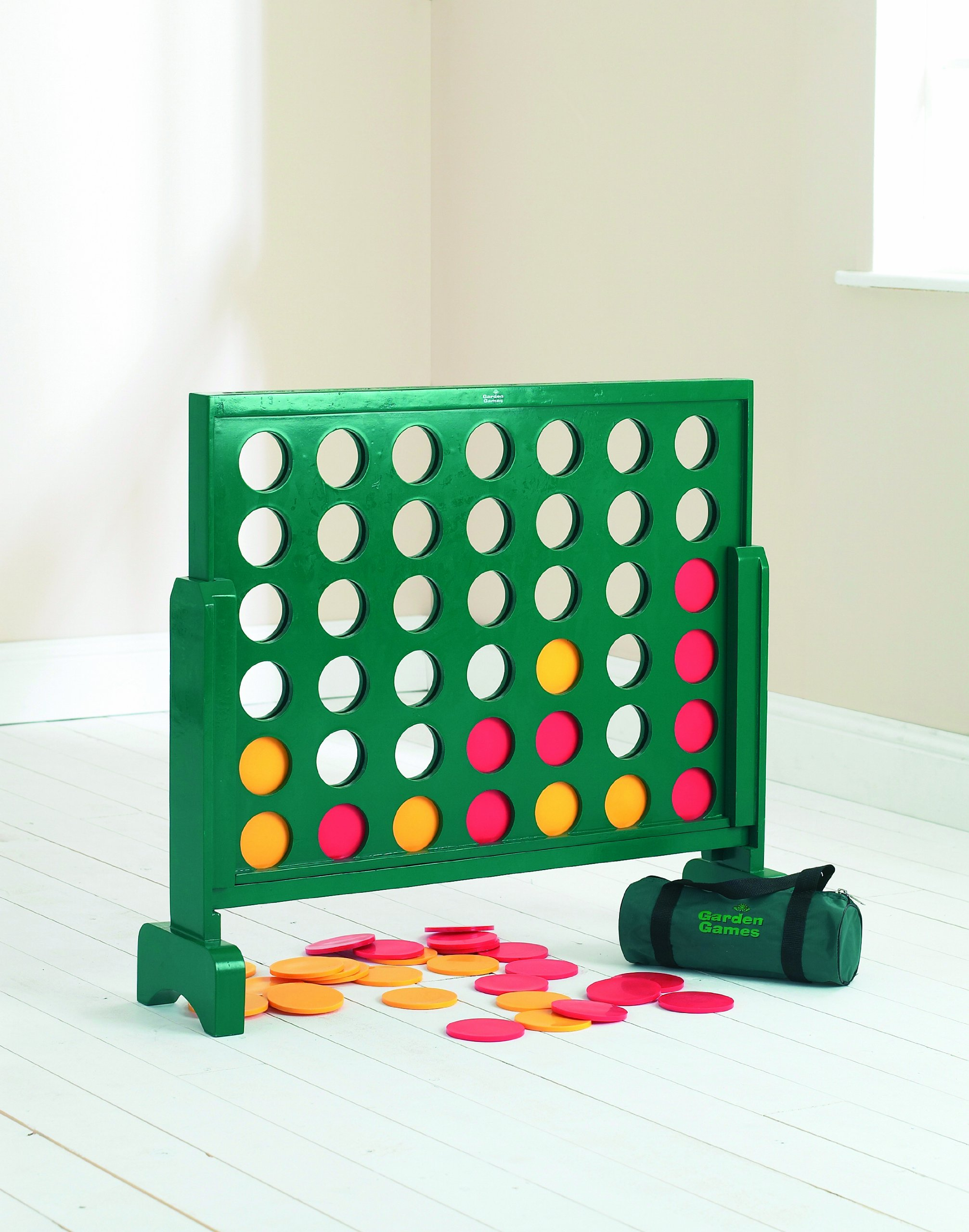 """Jumbo 4 in a Row Wooden Game – 30"""" Tall - Giant Game for the Whole Family"""