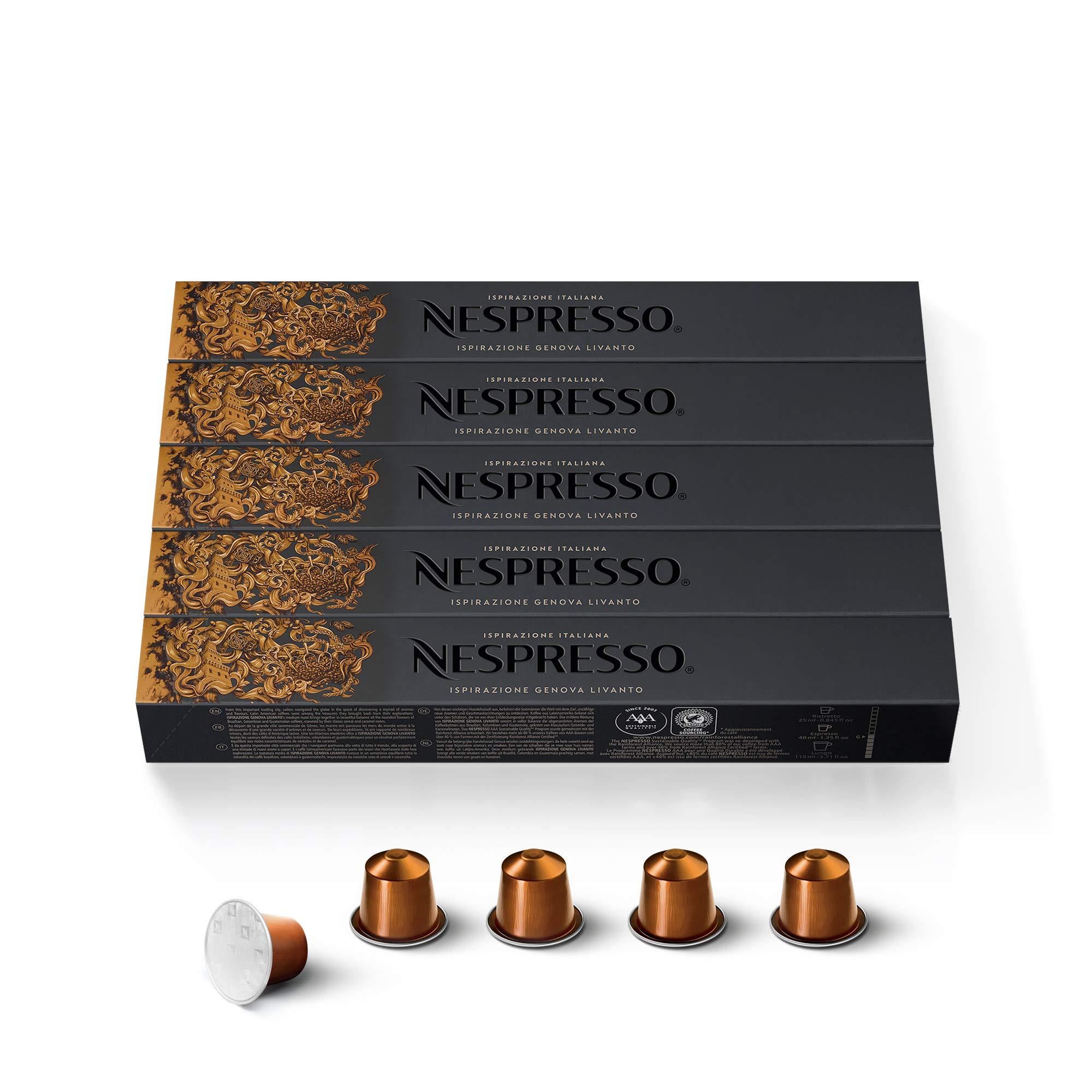 50 Nespresso Livanto Coffee Capsules …