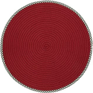 product image for Colonial Mills Twisted Stripe Reversible Round Christmas Rug (5' x 5') - 5' x 5'