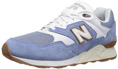 7efdbecf4fb62 New Balance Men's 878 90S Running Sneaker-RESTOMOD Fashion, White/Slate  Blue,