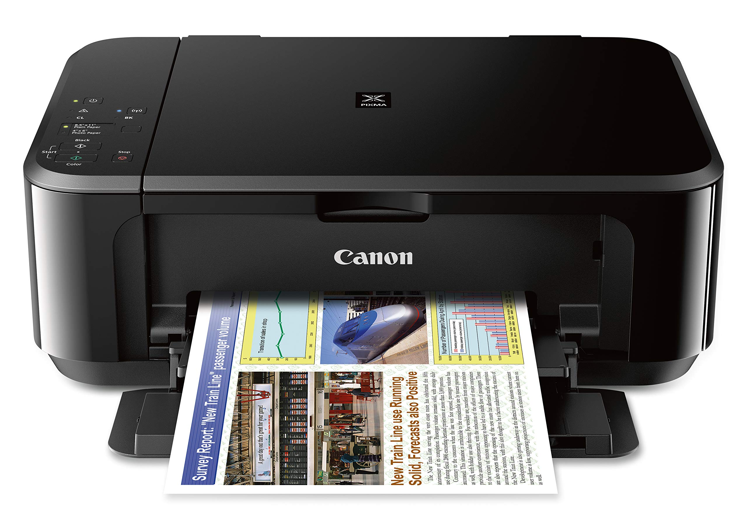 Canon PIXMA MG3620 Wireless All-In-One Color Inkjet Printer with Mobile and Tablet Printing, Black by Canon