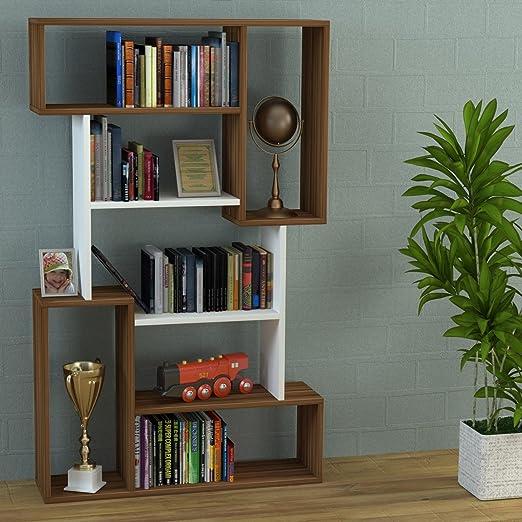 7 opinioni per CORGIN Libreria- Noce / Bianco- Scaffale per libri- Scaffale per ufficio /