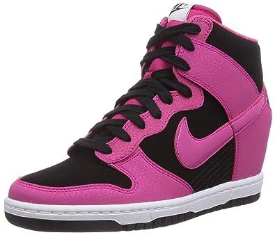 pretty nice 7b8df 90aed Nike Dunk Sky Hi Mesh, Chaussures de Basketball femme, Rose (blackfireberry