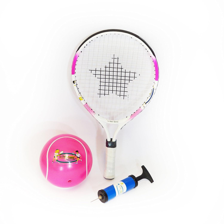 Le Petit Tennis - Raqueta Rosa 43 cm (17 Inches) + Pelota Tenis ...