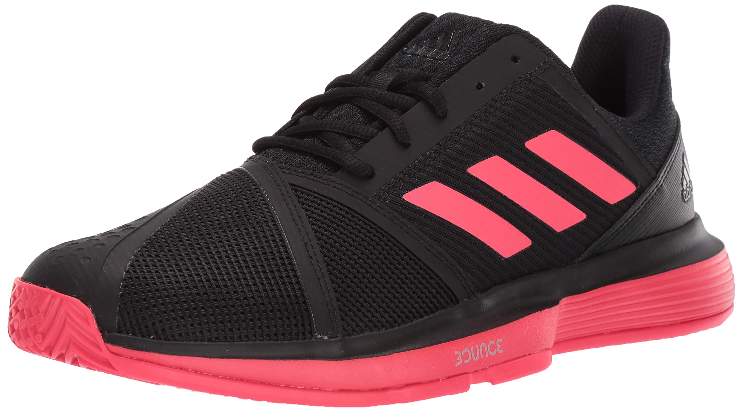 adidas Men's Courtjam Bounce, Black/Shock red/White, 6.5 M US