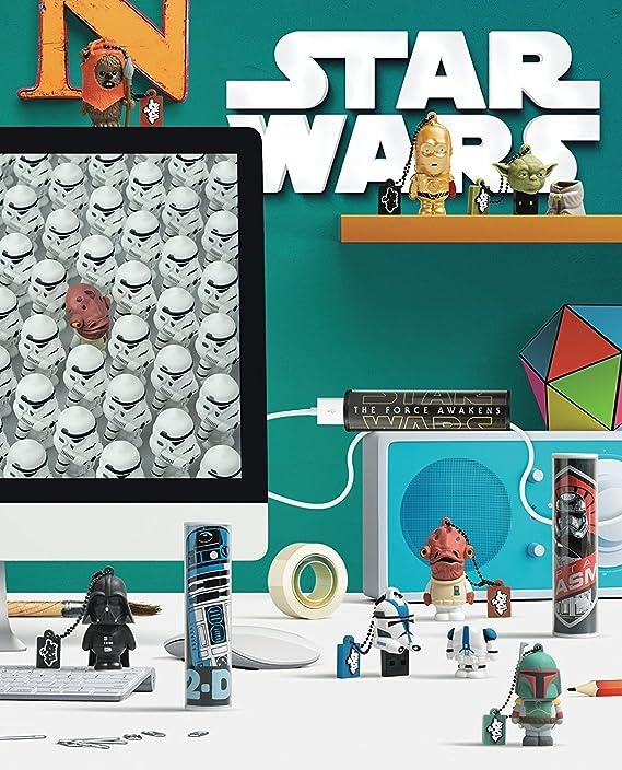 Tribe Disney Star Wars Chewbacca - Memoria USB 2.0 de 16 GB Pendrive Flash Drive de goma con llavero, color marrón: Amazon.es: Informática