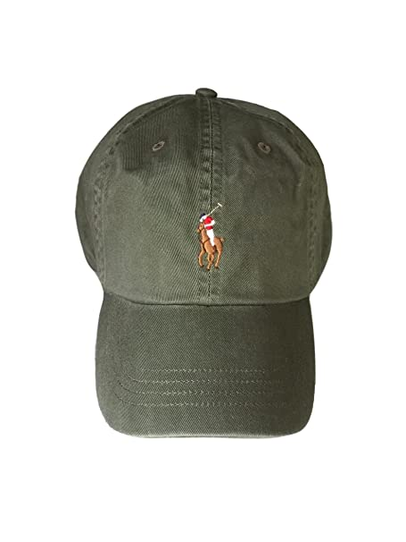 ea10b6da3 Image Unavailable. Image not available for. Colour  Polo Ralph Lauren Chino  Baseball Cap Army Green Colored ...