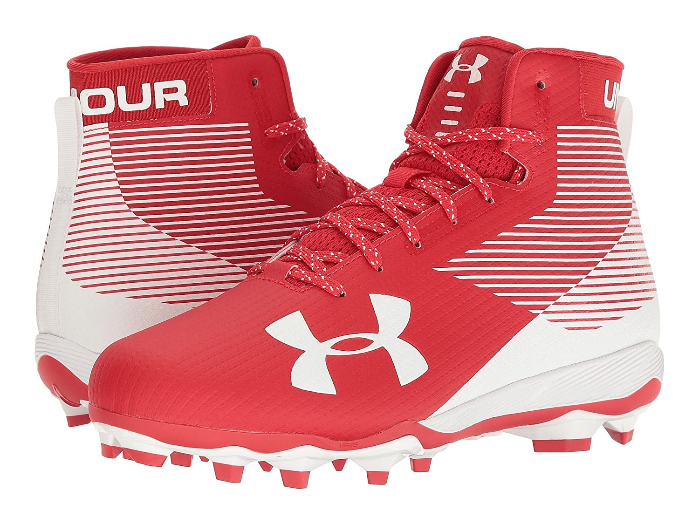 (アンダーアーマー) UNDER ARMOUR メンズフットボールアメフトシューズ靴 UA Hammer MC Red/White 8.5 (26.5cm) D Medium B07CP4GL88