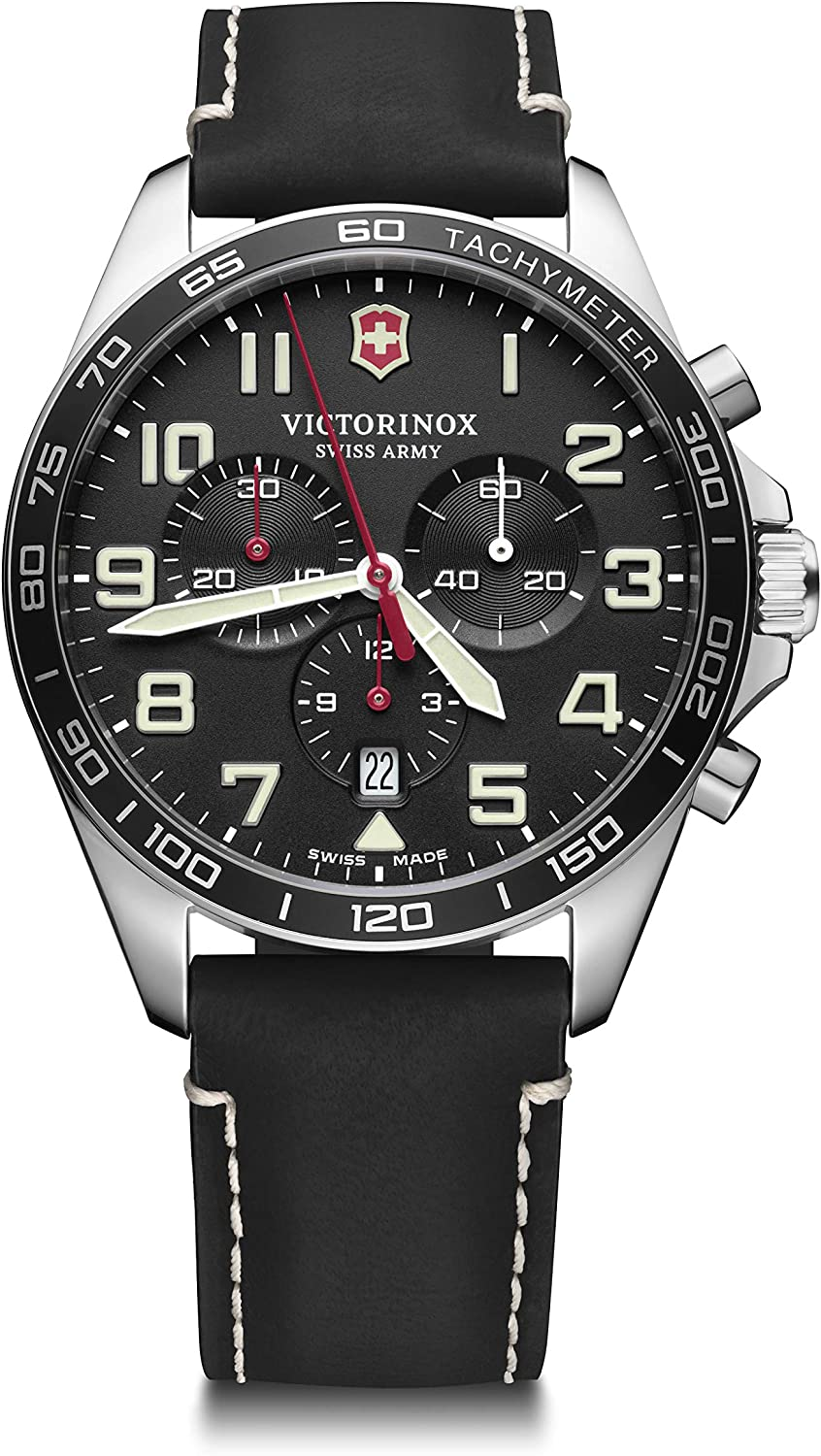Victorinox Fieldforce Chronograph Quartz Black Dial Men's Watch 241852