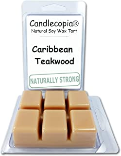 product image for Candlecopia Caribbean Teakwood Strongly Scented Hand Poured Vegan Wax Melts, 12 Scented Wax Cubes, 6.4 Ounces in 2 x 6-Packs