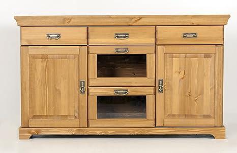 Credenza Da Cucina In Legno : Credenza cassettiera in legno di pino oliato armadio