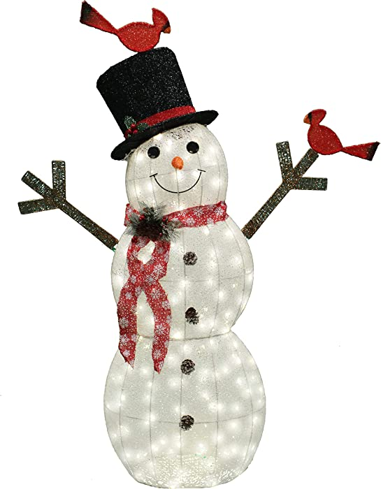 Joiedomi 5ft Cotton Snowman 170 LED Warm White Yard Light for Christmas Outdoor Yard Garden Decorations, Christmas Event Decoration, Christmas Eve Night Decor