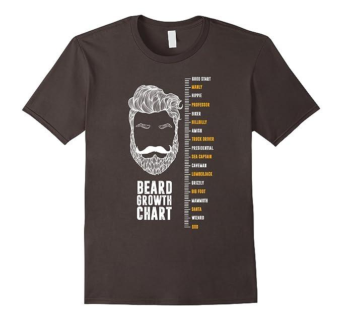 Amazon Epic Beard Growth Chart T Shirt Funny Tee By Zany