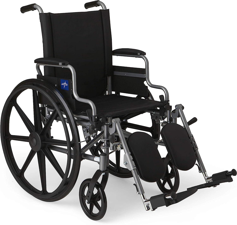 8. Medline Lightweight and User-Friendly 18 Seat Wheelchair