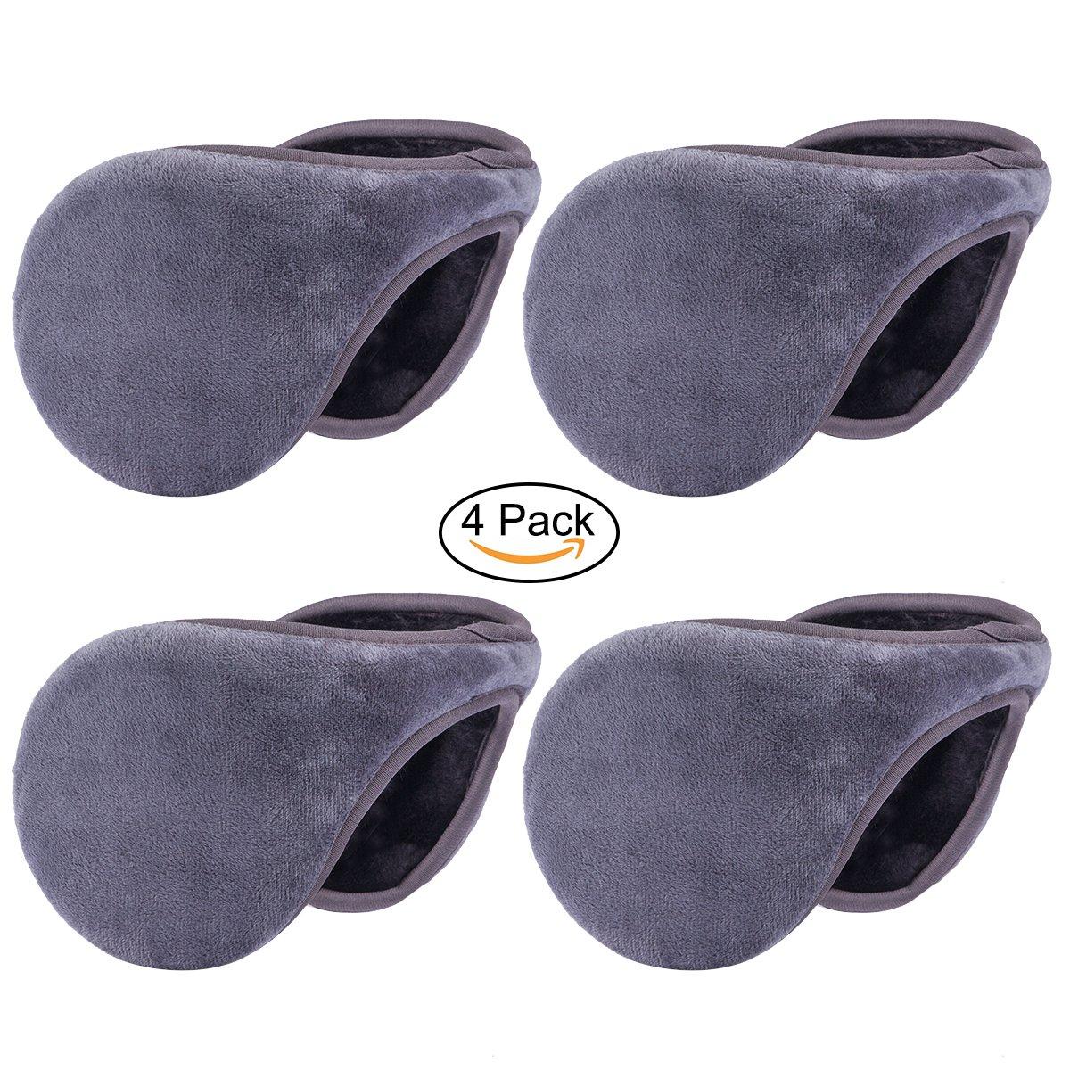 GELANBOO Winter Outdoor Earmuffs Fleece Ear Warmer 4 Pack One size)