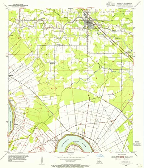 Amazon.com : YellowMaps Gonzales LA topo map, 1:24000 Scale ... on windcrest map, west baton rouge parish map, barataria map, franklinton map, norman map, mondragon map, evangeline map, gorda map, leesville map, zapata map, east feliciana map, amador map, ochiltree map, fifth ward map, grimaldi map, arevalo map, chualar map, obregon map, lajitas map,