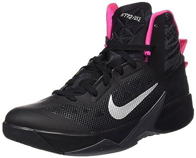 cheap for discount f1397 8677a Nike Men s Zoom Hyperfuse 2013 Blck Mtllc Slvr Drk Gry Pnk Fl Basketball
