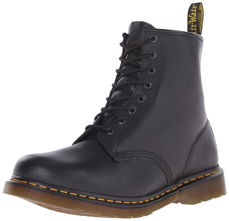 Dr. Martens Men's 1460 Combat Boot, 8.5 B(M) US Women/7.5 D(M) US Men B000VUGYKY 6 F(M) UK / 8 B(M) US Women / 7 D(M) US Men|Black Nappa Leather
