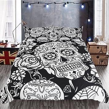 Bettwäsche Set Gothic Skull Fashion Schlafzimmer Set Persönlichkeit ...