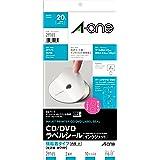 エーワン CD/DVDラベルシール 光沢紙 内径小 10枚 29165
